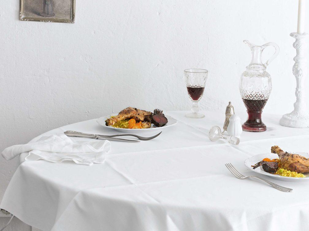 Entenkeule mit Kumquat-Sauce, Gebackenen Roten Beten und Gewürz-Couscous