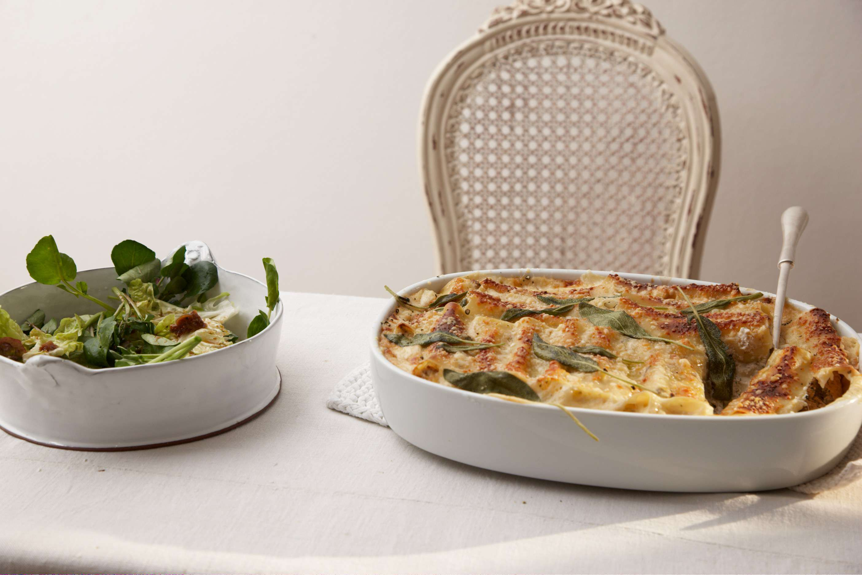 Cannelloni mit Ricotta-Nuss-Füllung