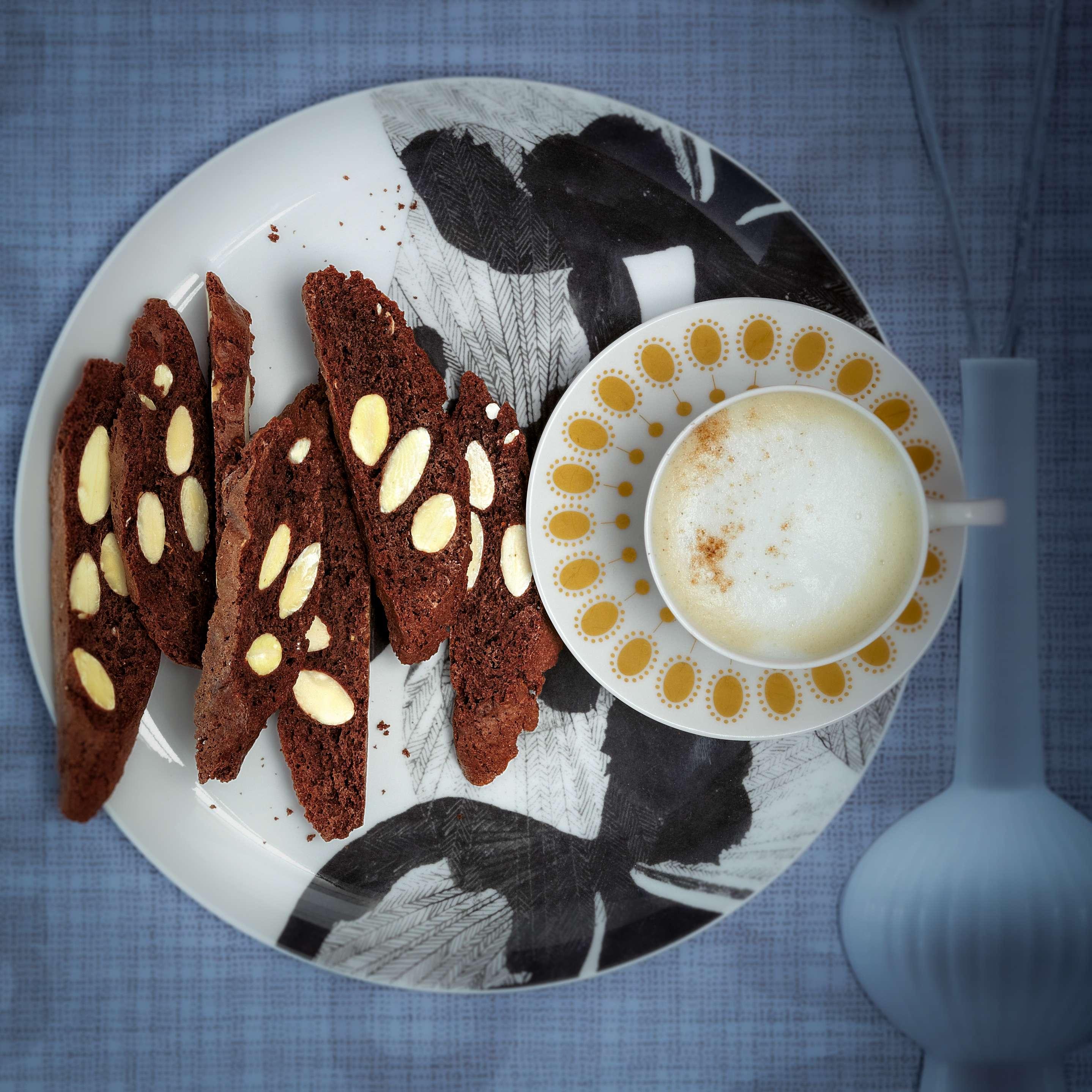 Schokoladen-Mandel-Cantuccini