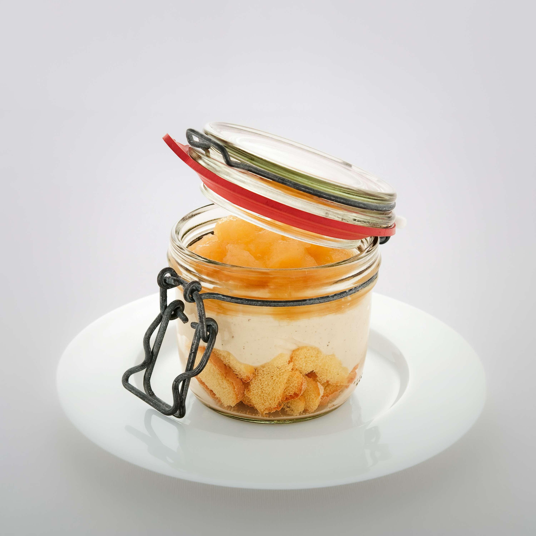 Schneller Apfelkuchen aus dem Glas