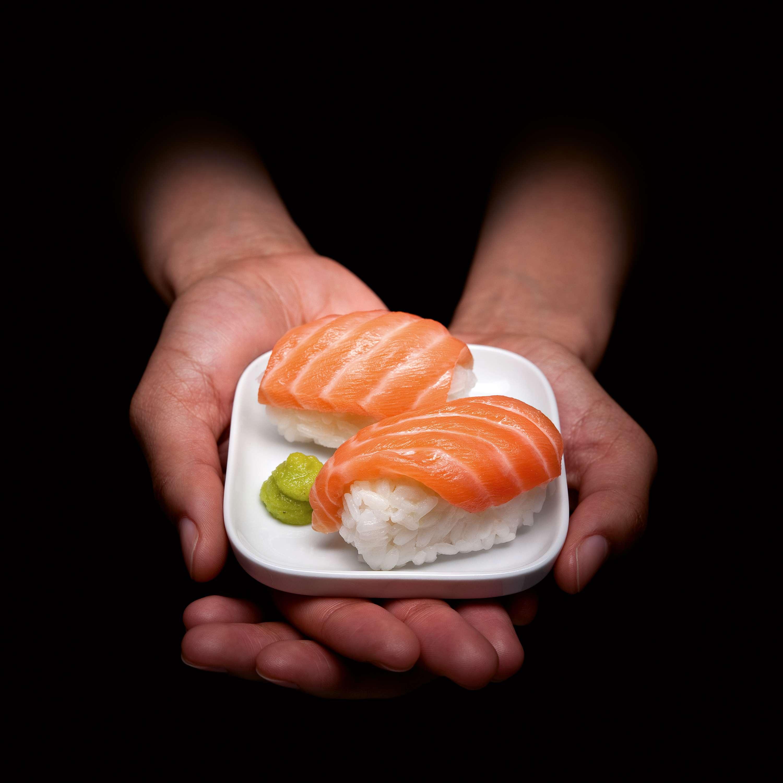 Nigiri-Sushi mitLachs
