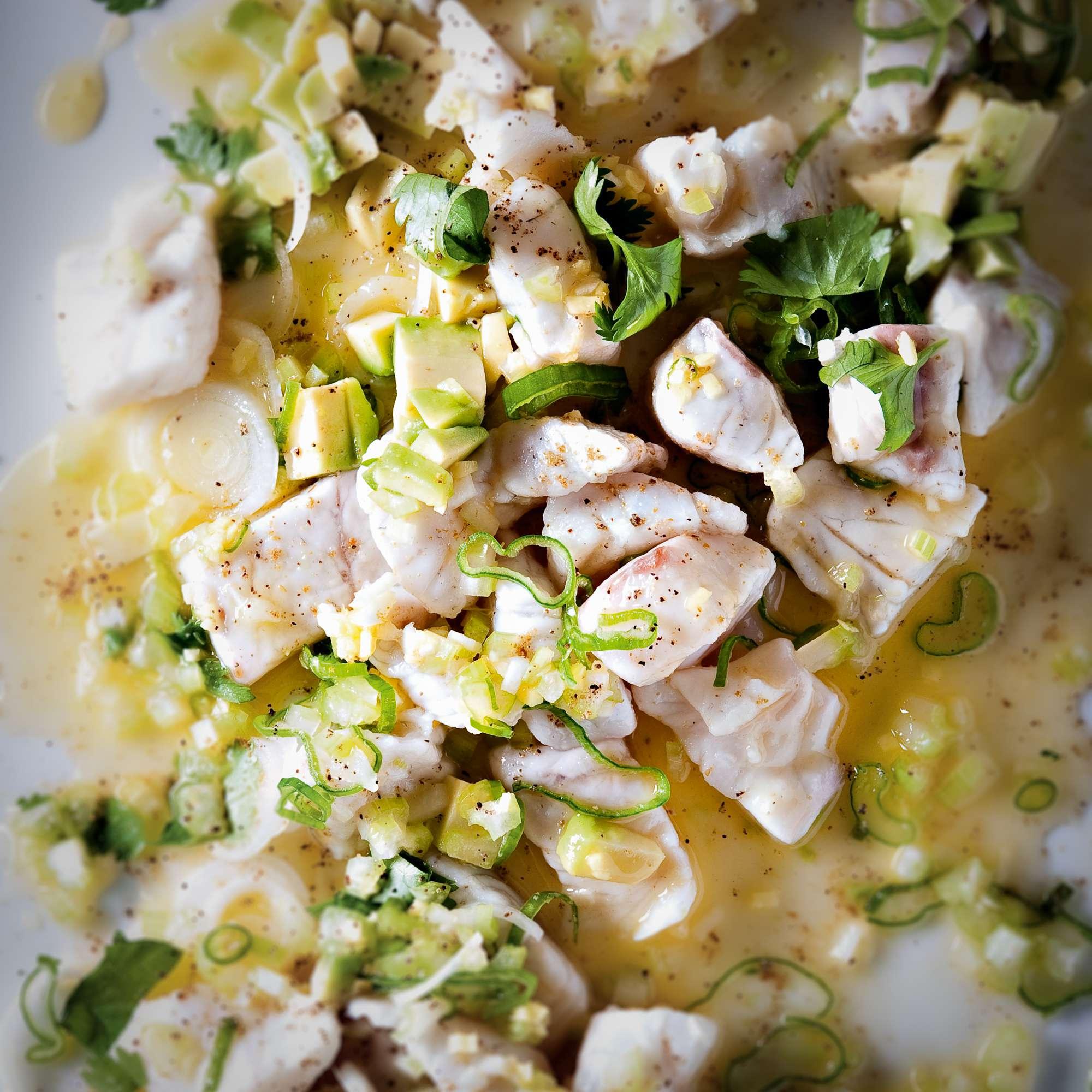 Ceviche mit Chili und Ingwer