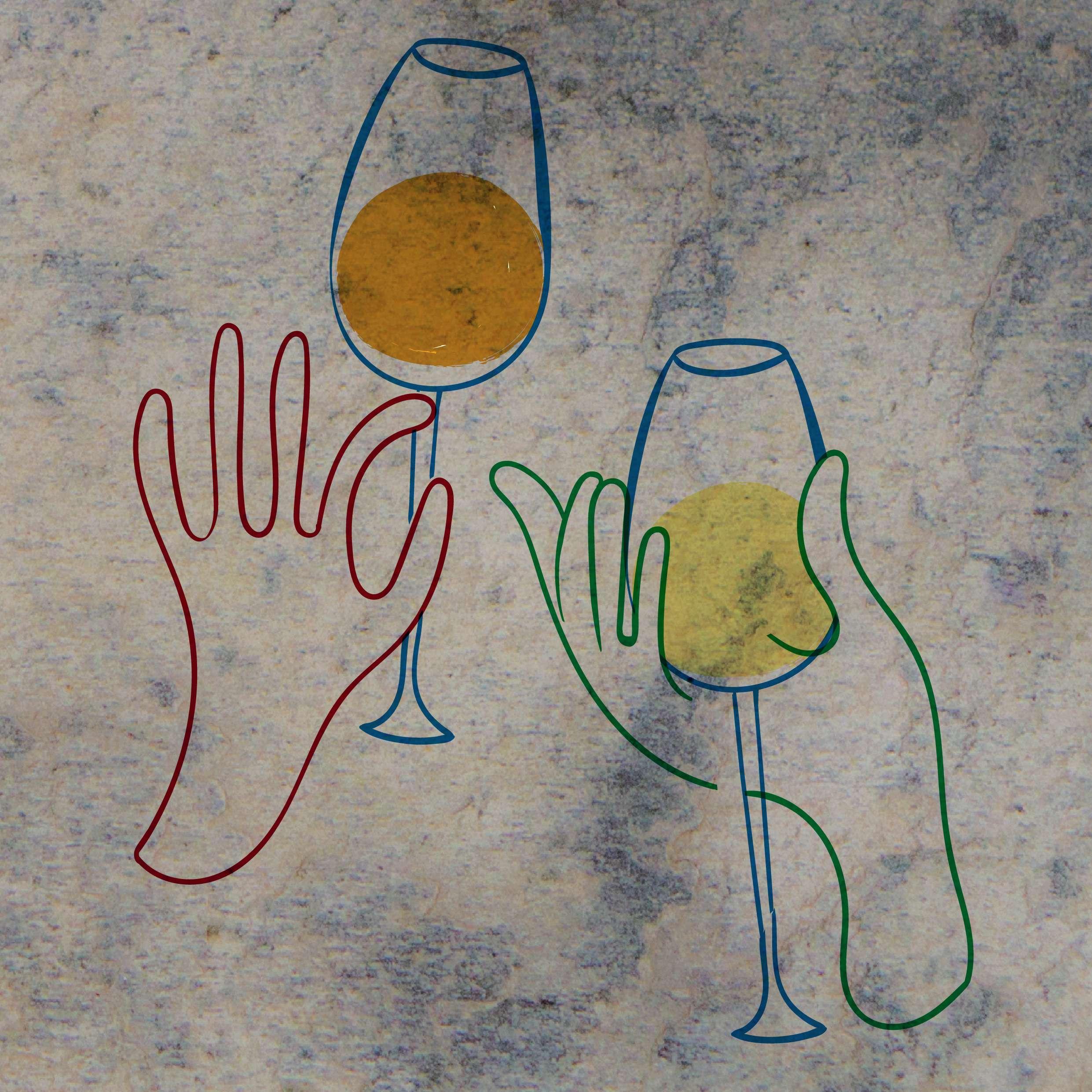 Treffen sich zwei Weine: Sekt und Champagner