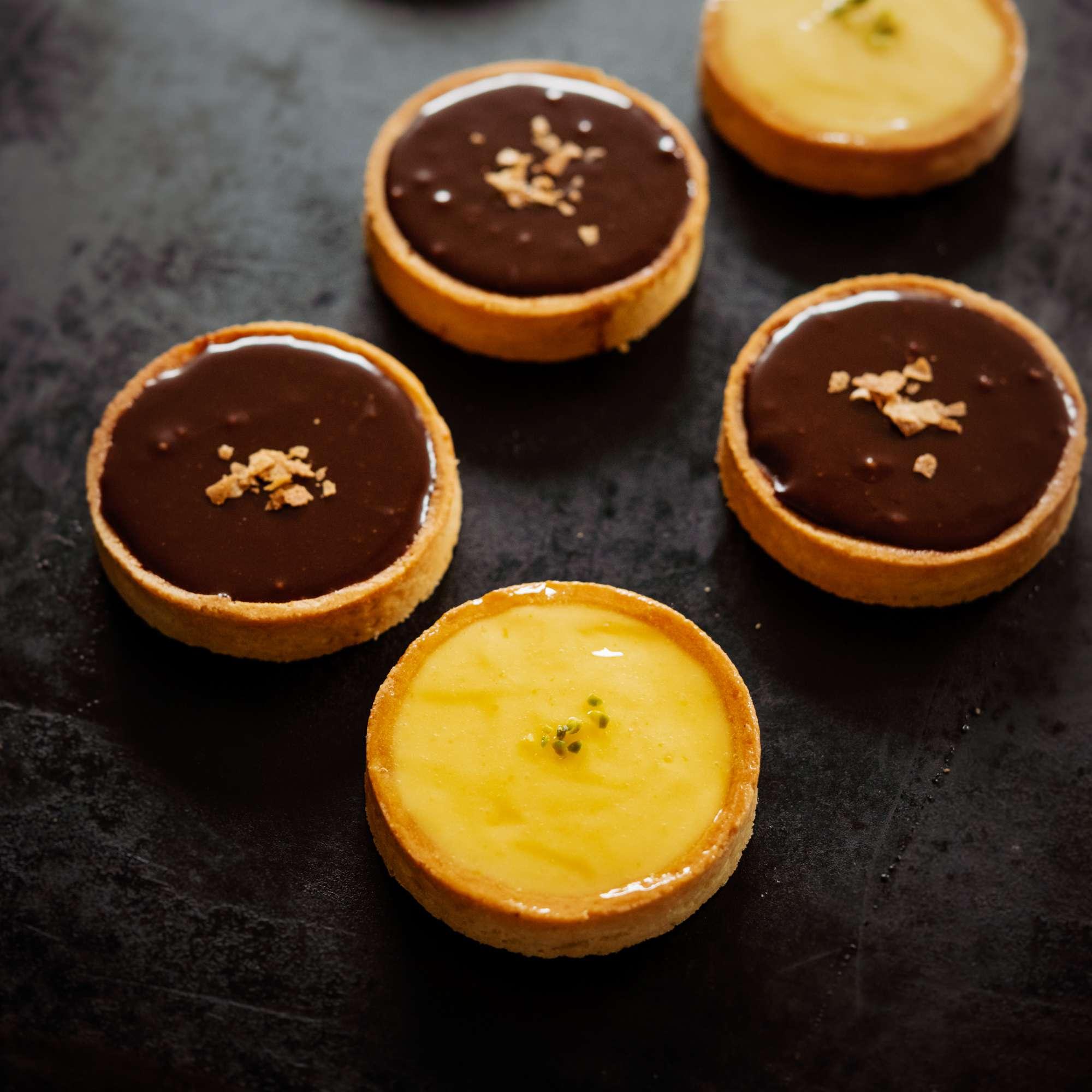 Tarte au Chocolat, Tarte au Citron, Tarte au Ganache Caramel