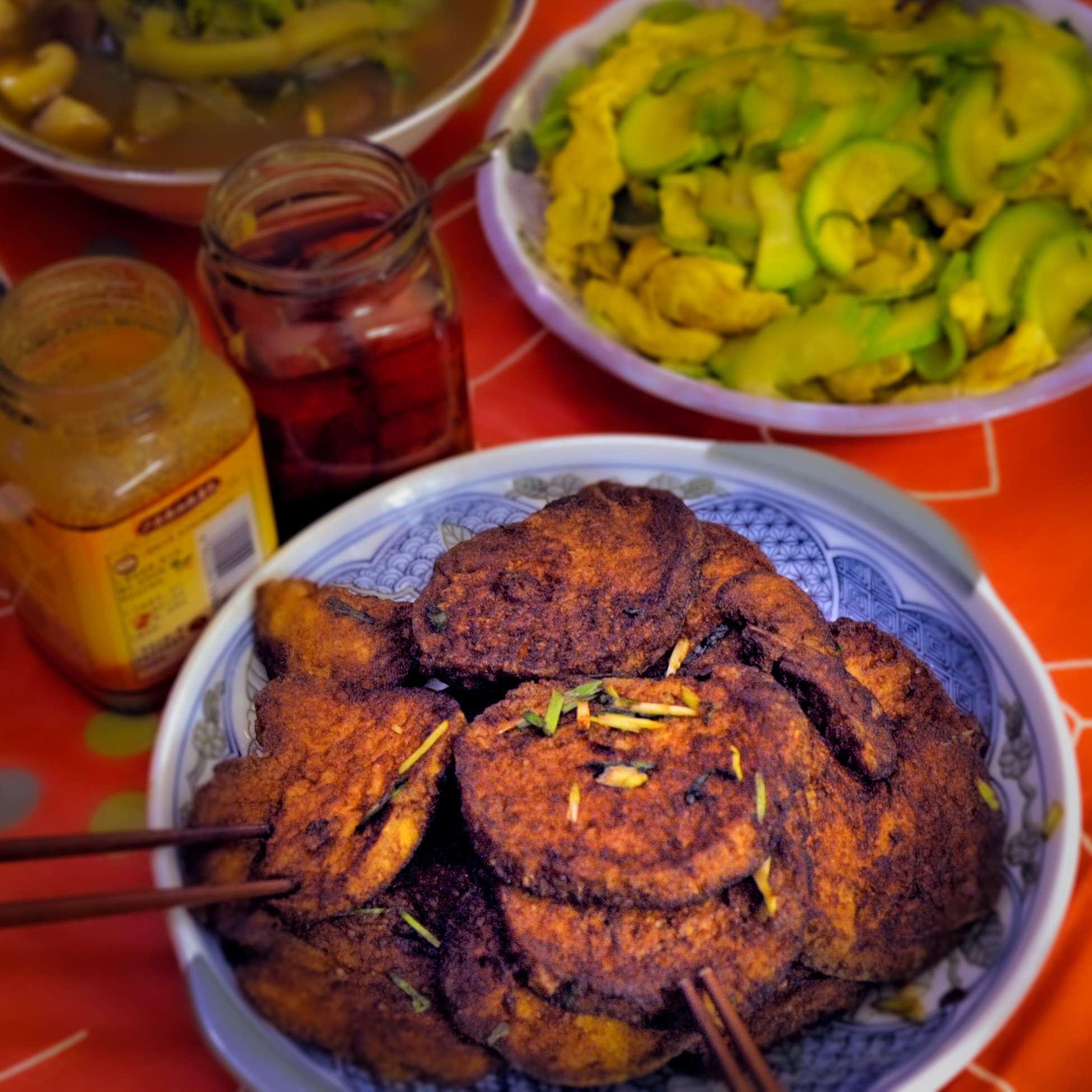 Hongshaosuji – Vegetarisches Huhn · Effilee