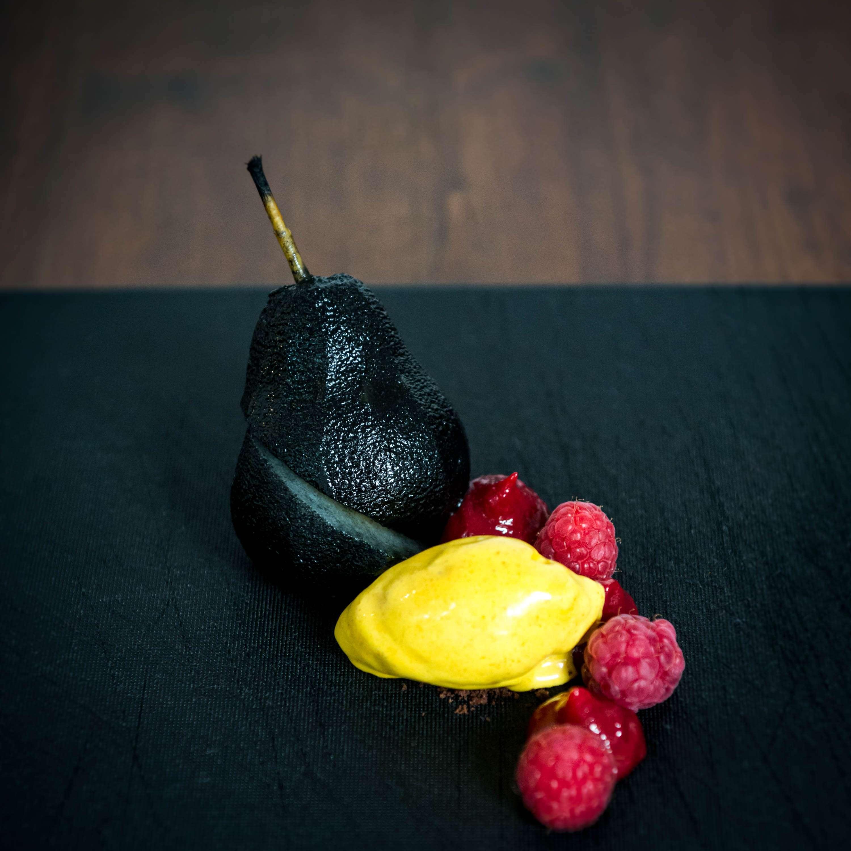 WM-Dessert Deutschland: Birne, Himbeer, Kurkuma