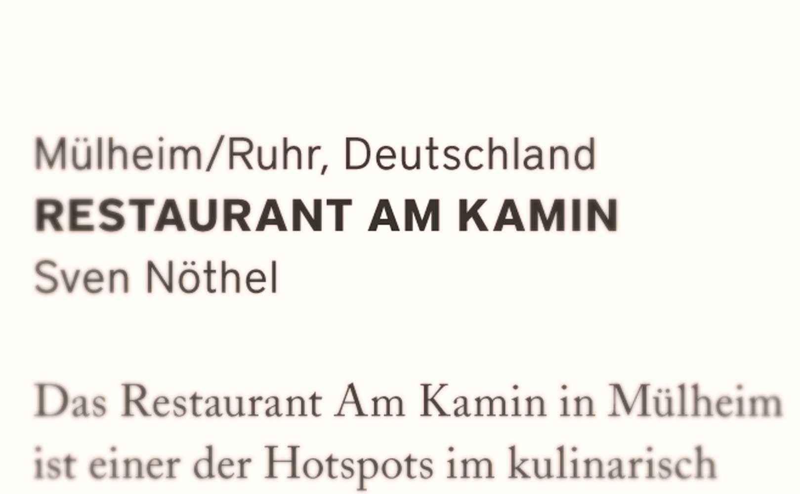 Go to Restaurantkritik: Restaurant am Kamin