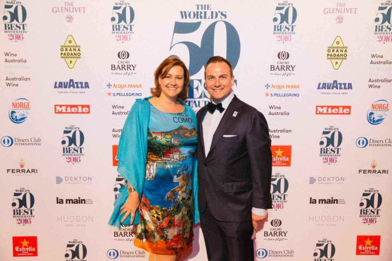 Marie und Tim Raue bei der Präsentation der 50Best in New York