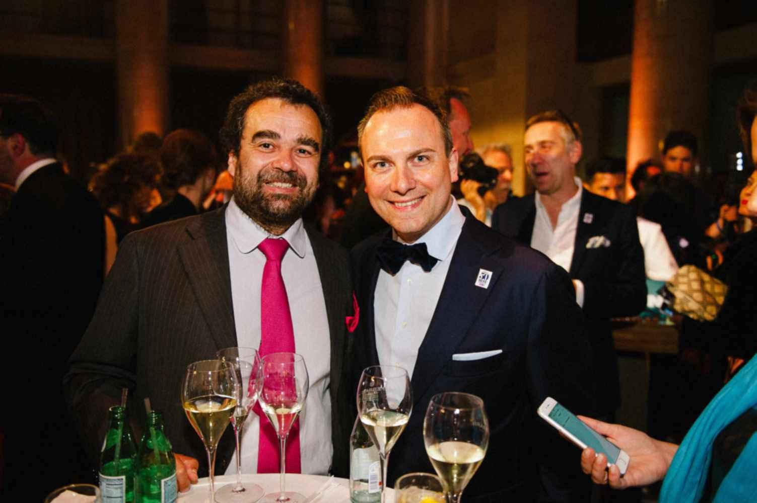 Tim Raue (r) und Vijay Sapre auf der Präsentation der 50Best Restaurants 2016