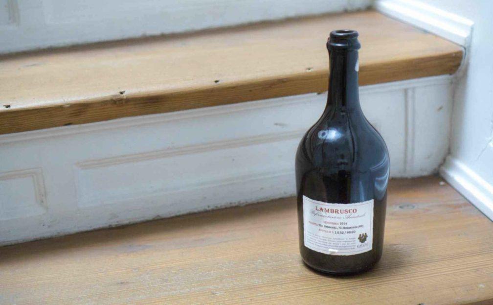 Lambrusco Flasche