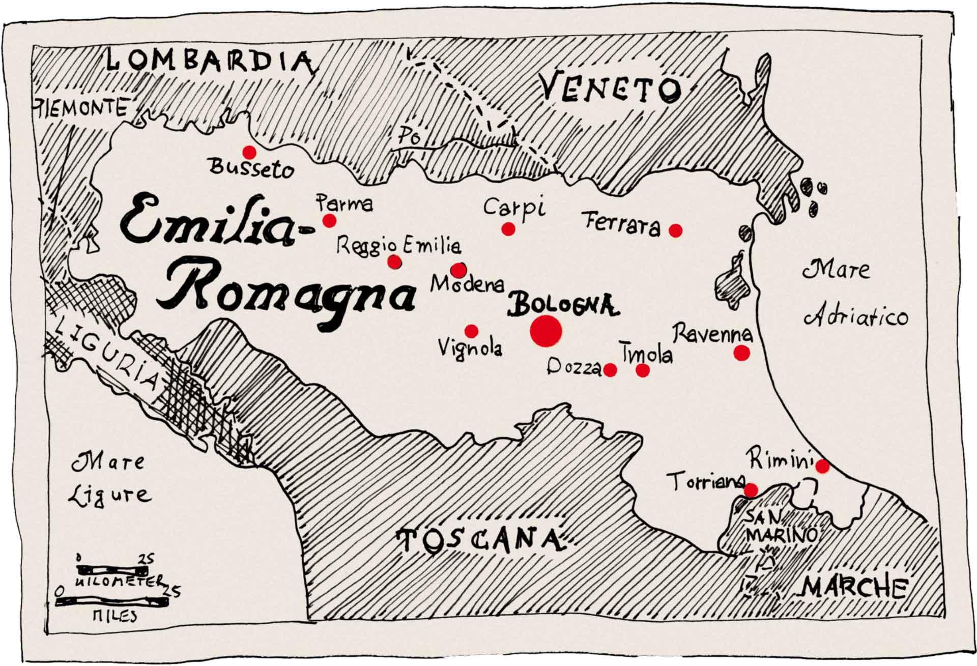 Die Emiglia Romagna