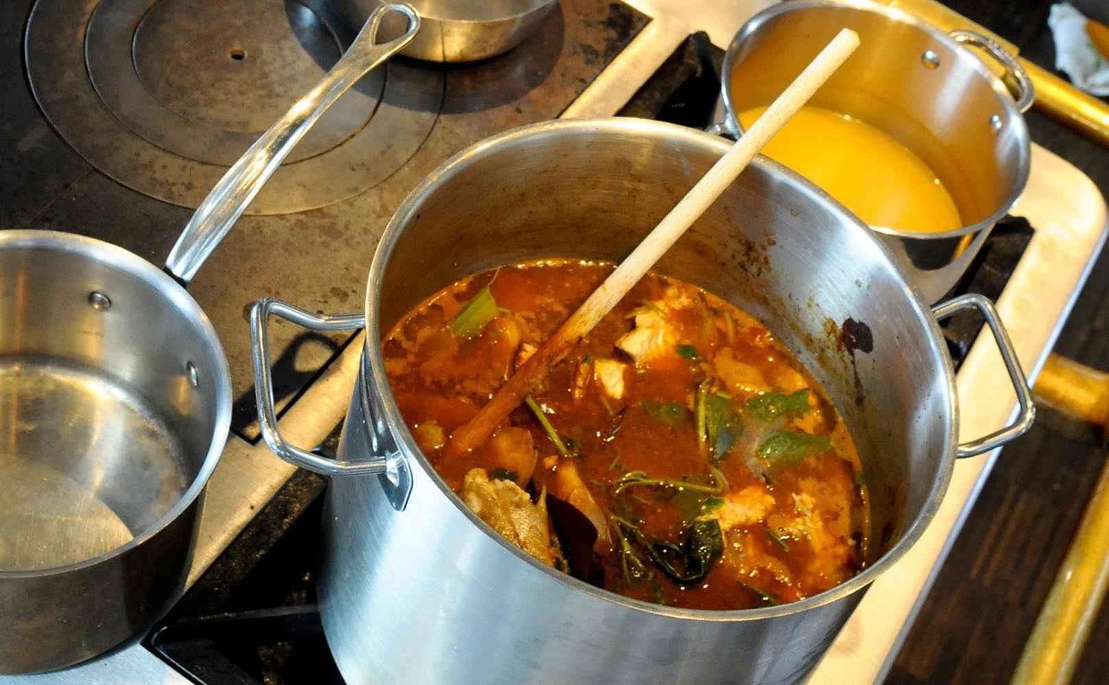 Rezept für Thai-Bouillabaisse und Schellfisch-Ceviche