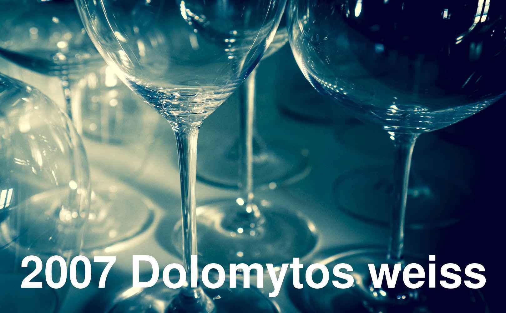 2007 Dolomytos weiss von Ansitz Dolomytos Sacker aus Südtirol, Italien