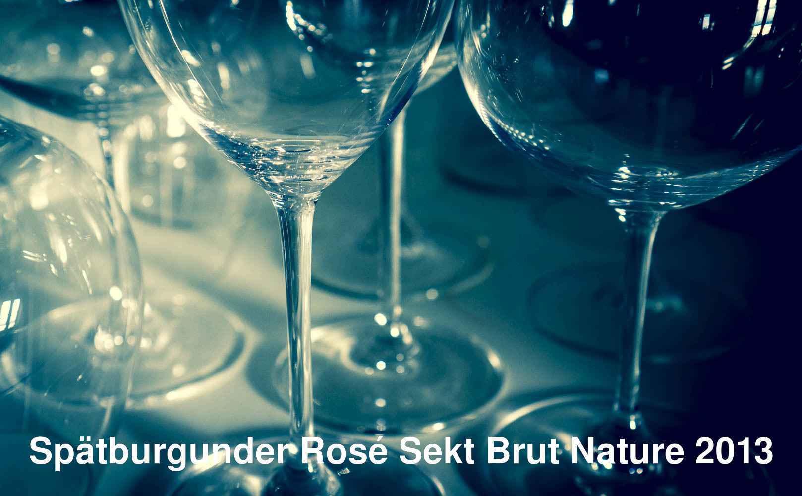 Spätburgunder Rosé Sekt Brut Nature 2013 von J.B. Becker aus Rheingau, Deutschland
