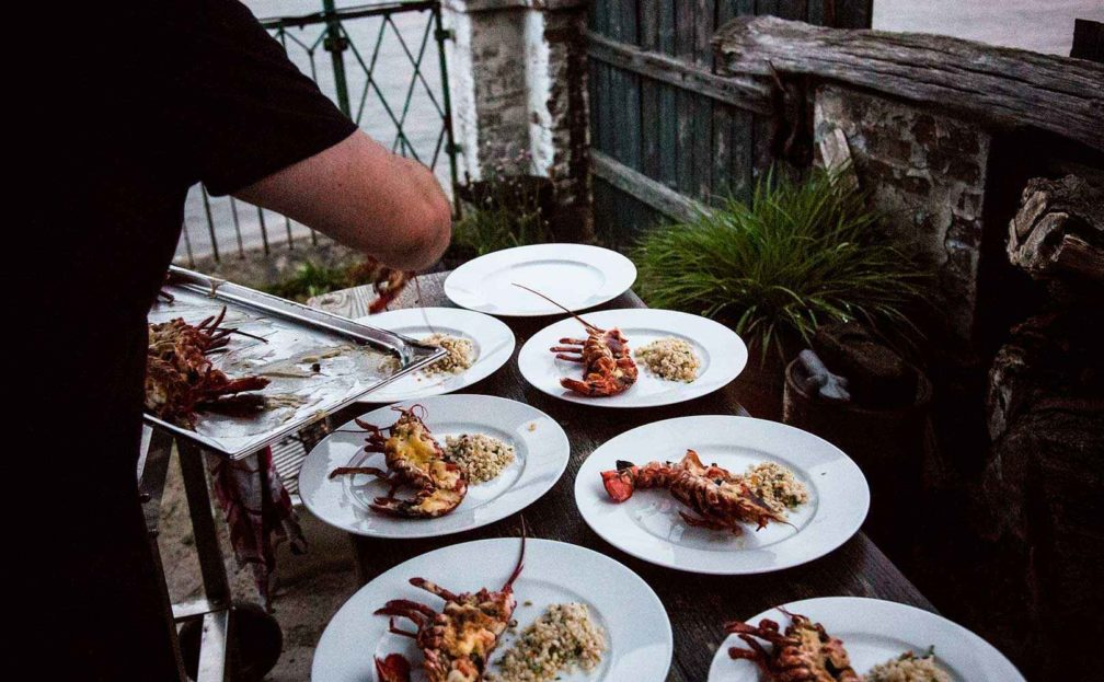 Rezept für Lobster  Thermidor mit Graupenrisotto