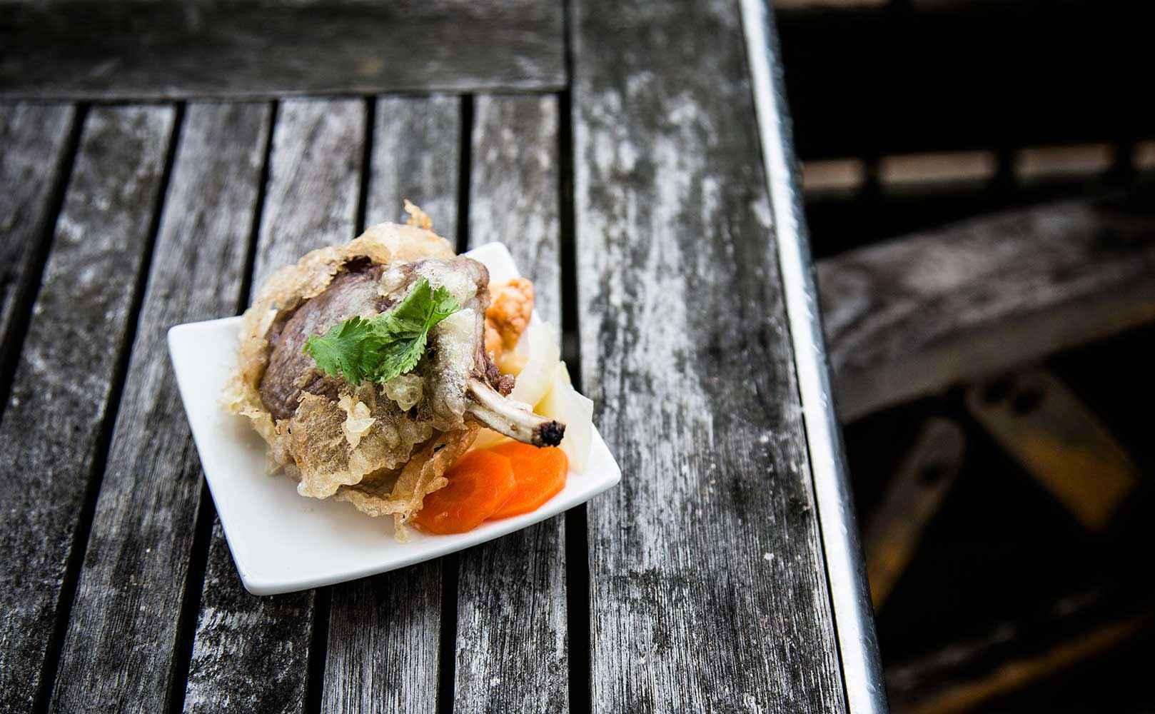 Rezept für Lammtempura mit Quick Pickles