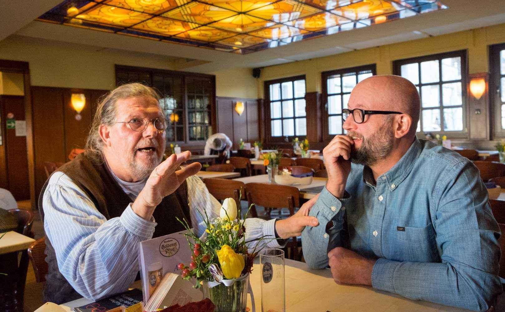 Einmal Chef, immer Chef: Herbert Schönberner mit Matthias Kappelhoff