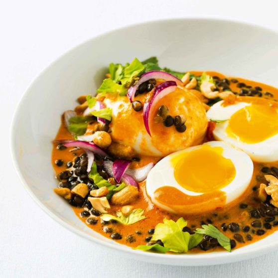 Red Curry Eggs