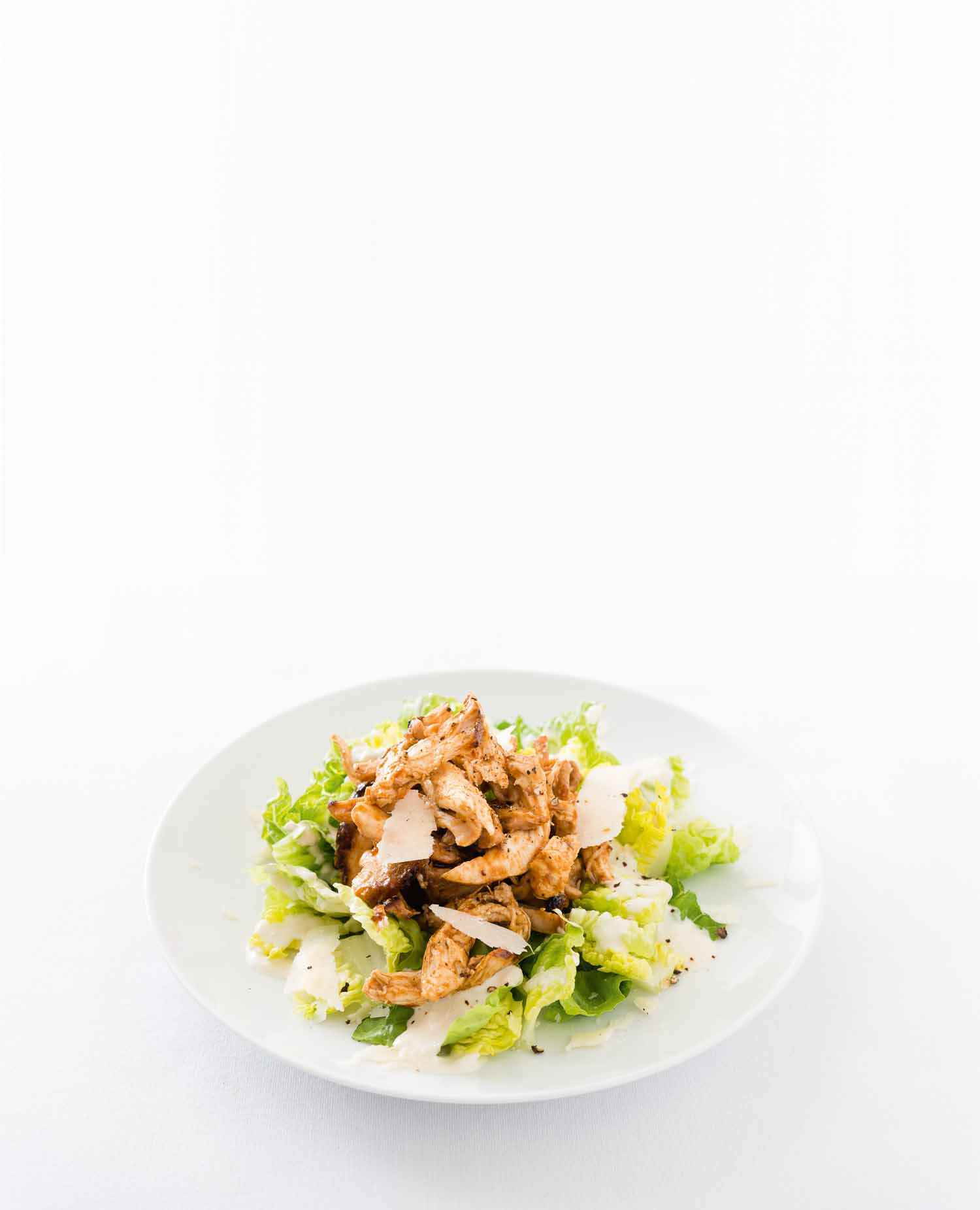Caesar Salad mit Pulled Chicken