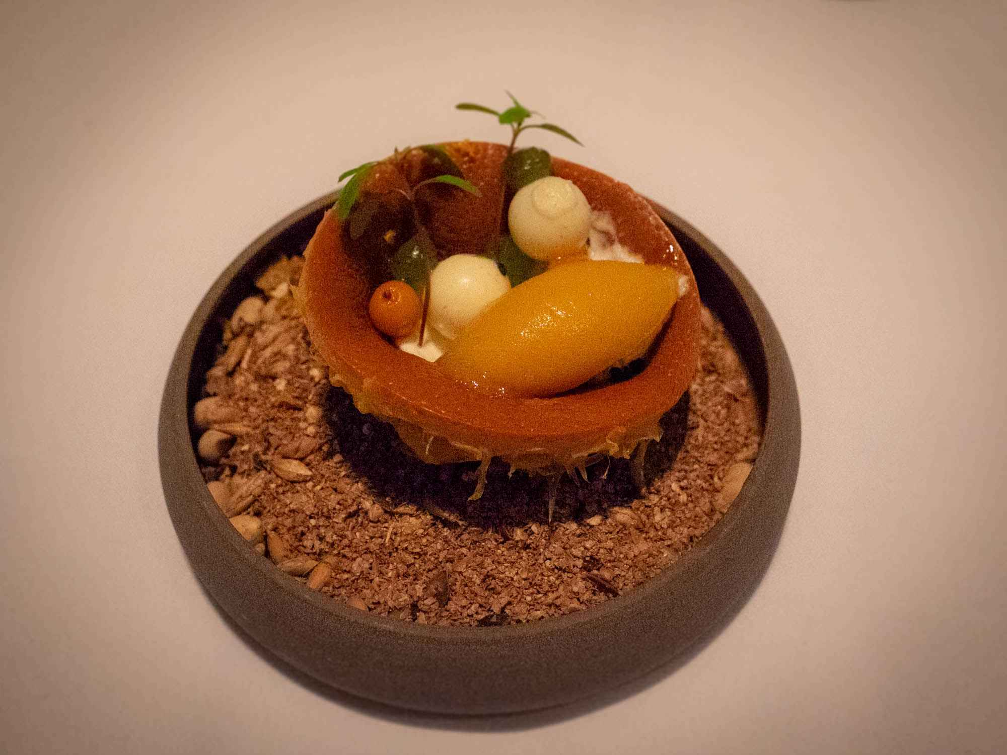 Fermented Orange with Salted Mascarpone & Black Mint - Jonnie Boer