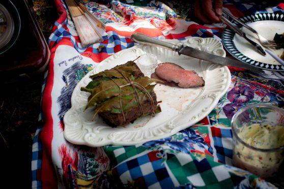Roastbeef mit Röstzwiebelmayonnaise
