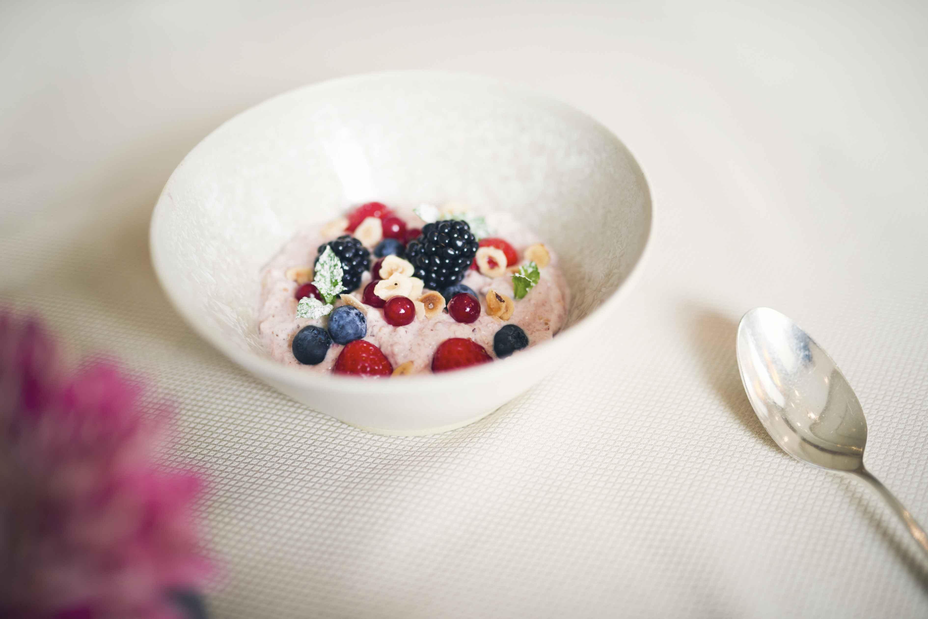 Schweizer Muesli mit Joghurt