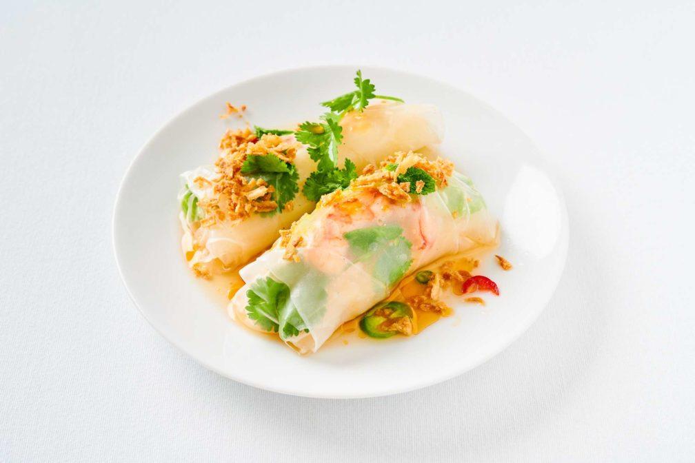 Spicy Summer Rolls mit Erdnussbutter-Limetten-Mayonnaise