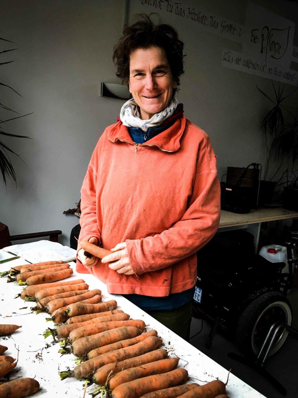Christina Henatsch sichtet Karotten