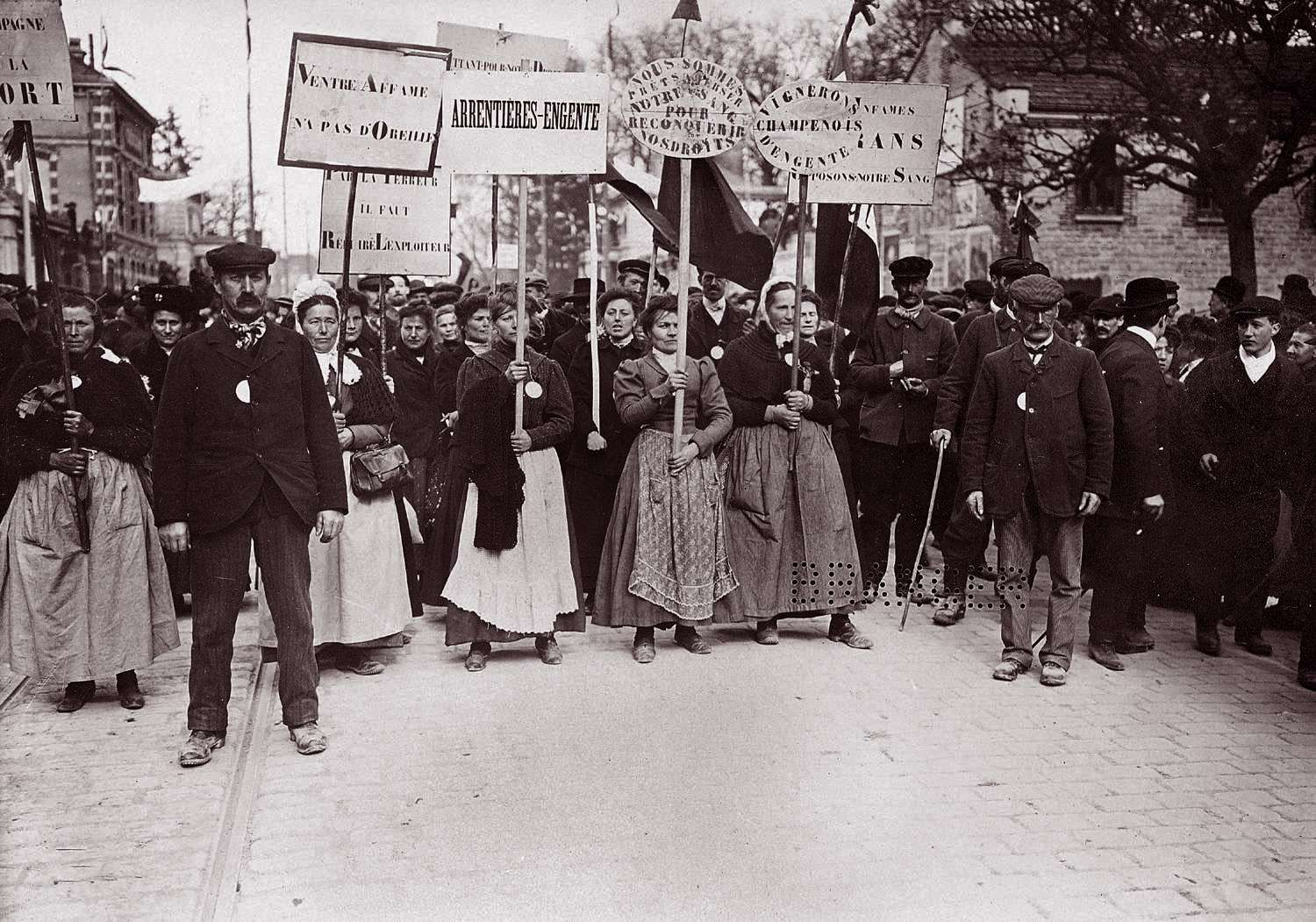 Demonstration in der Champagne 1911