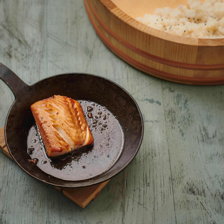 Köhlerfisch in Miso mariniert