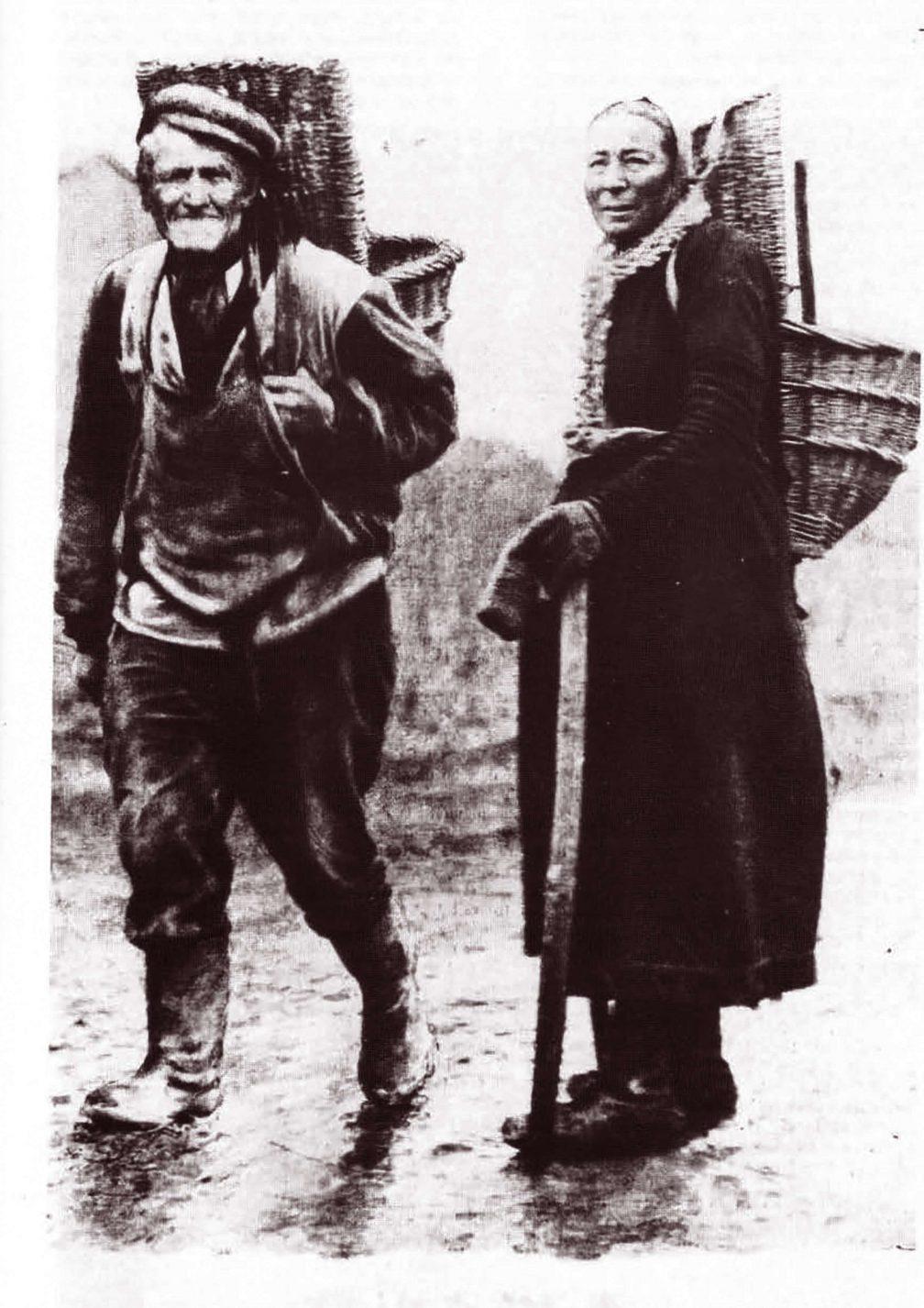 Winzer in der Champagne um 1900