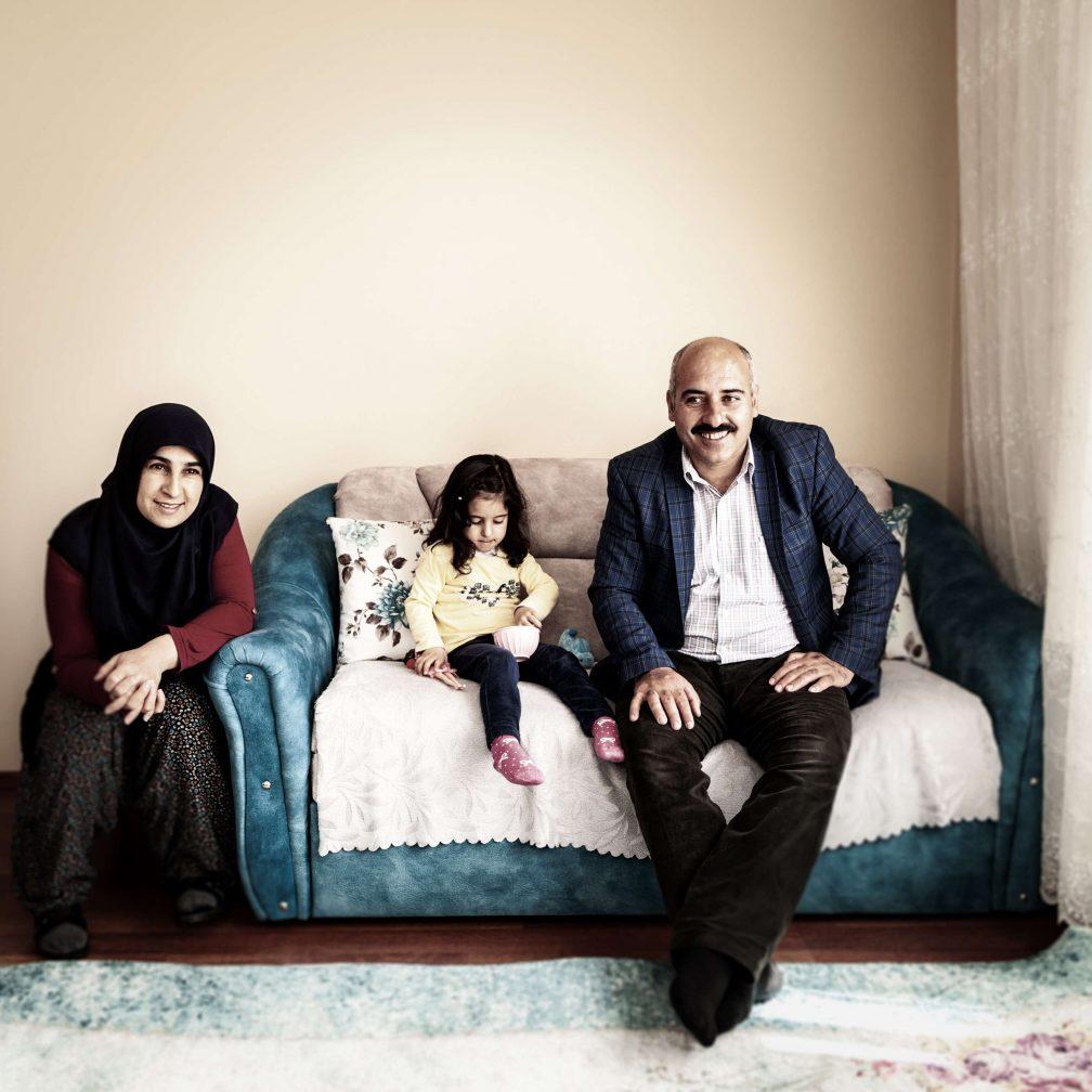 Acht Monate im Jahr Städter: Mustafa Gün, seine Frau Songül und Tochter Miray
