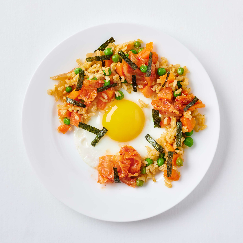 Kimchi-Reis (eiliges Bibimbap)