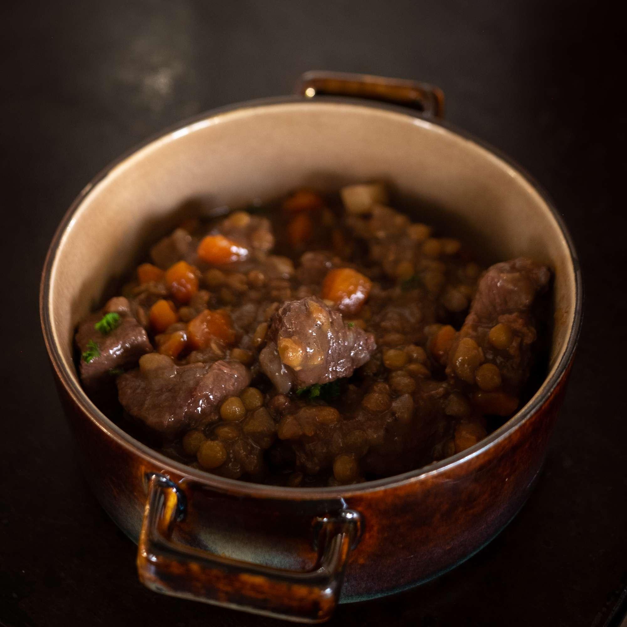 Beef Stew mit Linsen