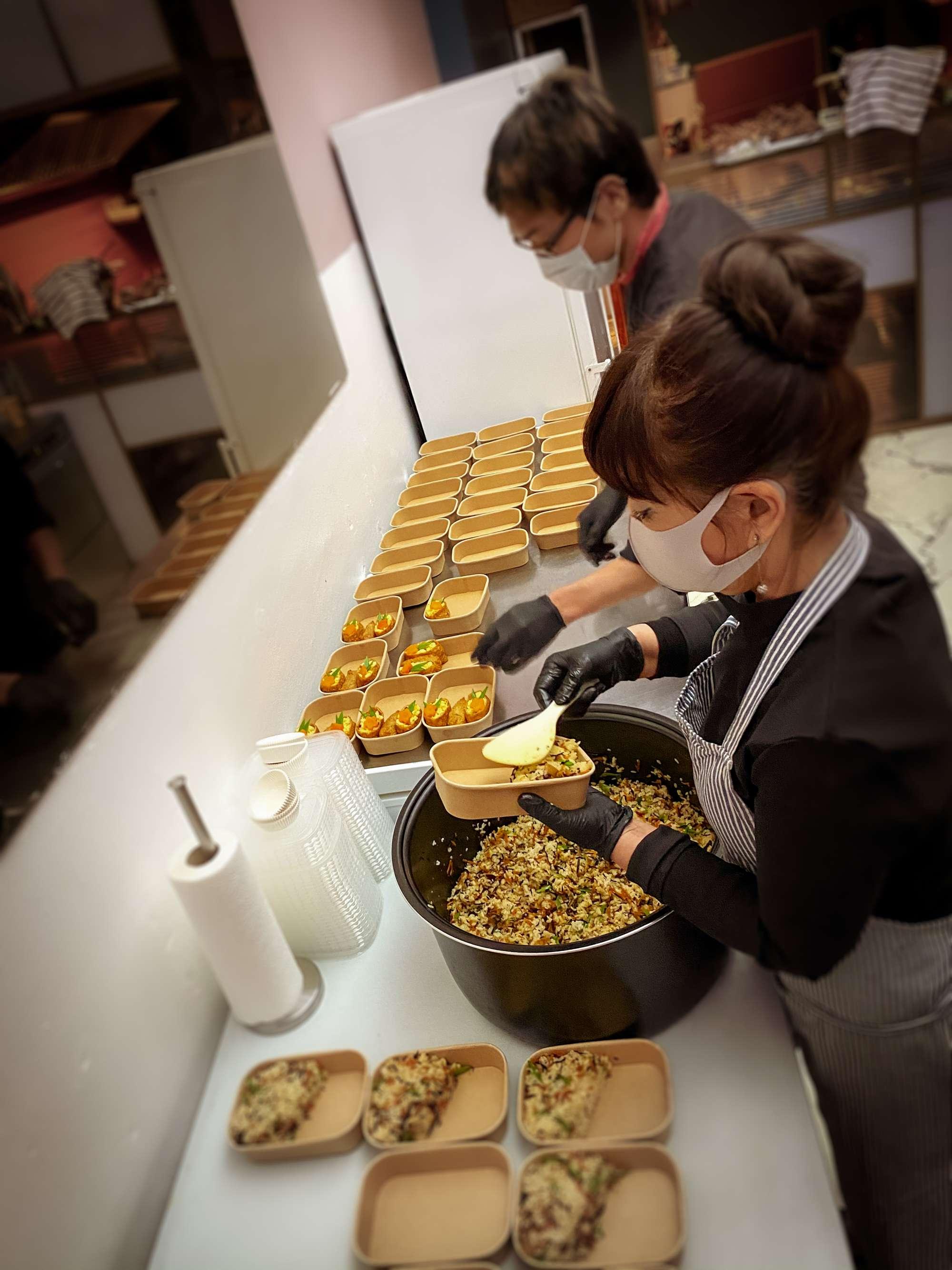 Gemischter Reis mit Karotten, Shiitake, Hijiki und Erbsen