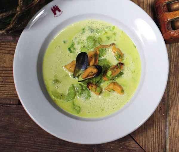 Curry-Muschelsuppe