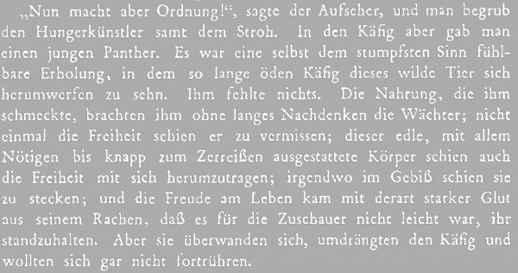 "Textauszug: Franz Kafka ""Der Hungerkünstler"" Quelle: Wikipedia"