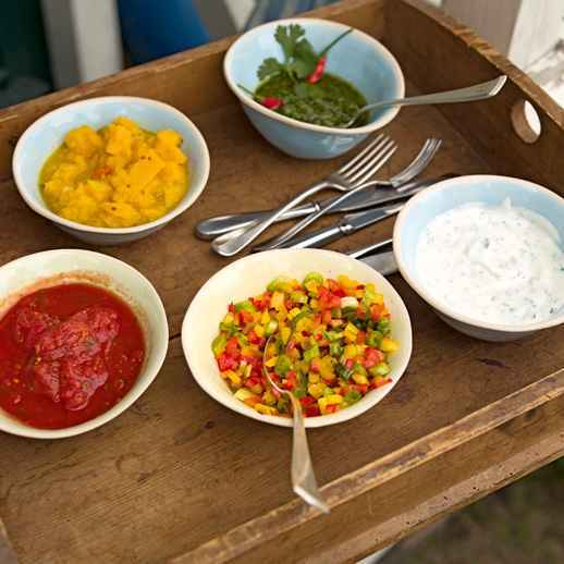 Kräftige Würze dank Koriander-Chili-Pesto.