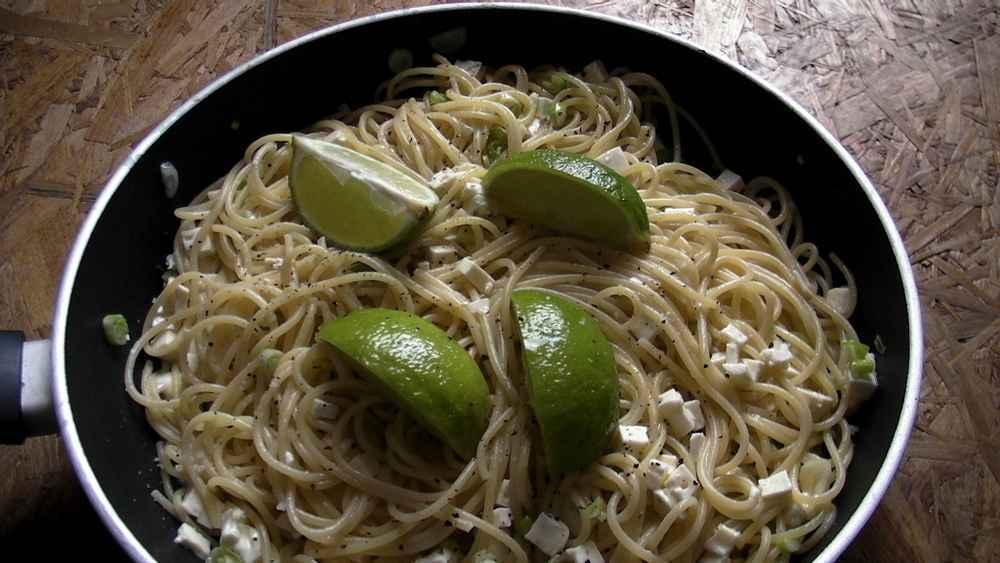Spaghetti mit Feta, Rechteinhaber: selbst erstellt, Lizenzvereinbarung: Creative Commons Attribution 2.0 Germany License