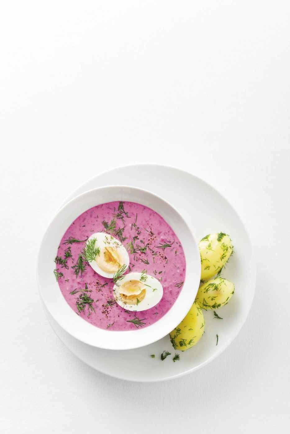 Šaltibarščiai – kühle Rote-Bete-Suppe