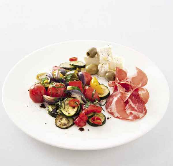 Antipasti-Gemüse aus dem Ofen