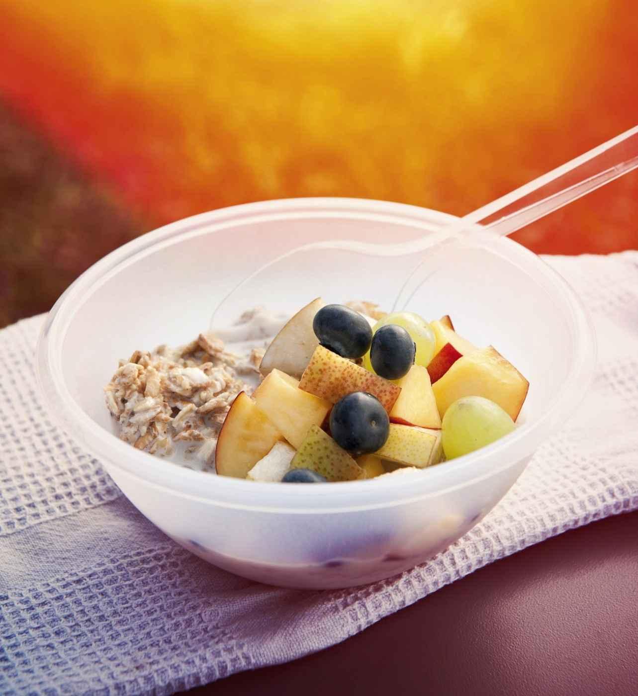 Joghurt-Müsli mit Obstsalat
