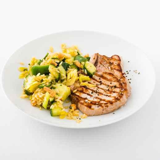 Grüner Curry-Reissalat